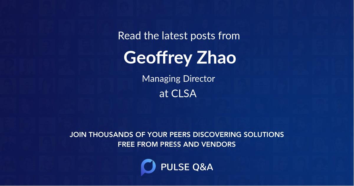 Geoffrey Zhao