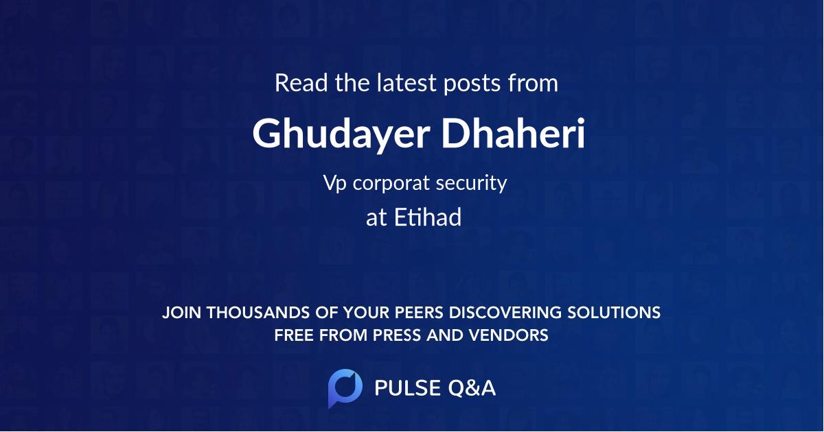 Ghudayer Dhaheri