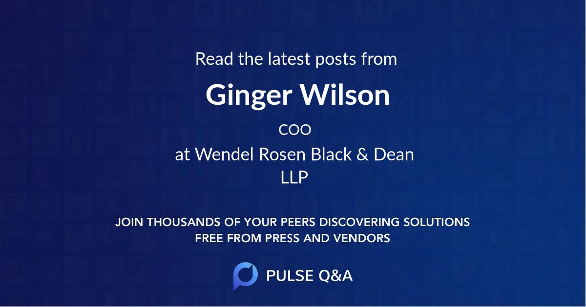 Ginger Wilson