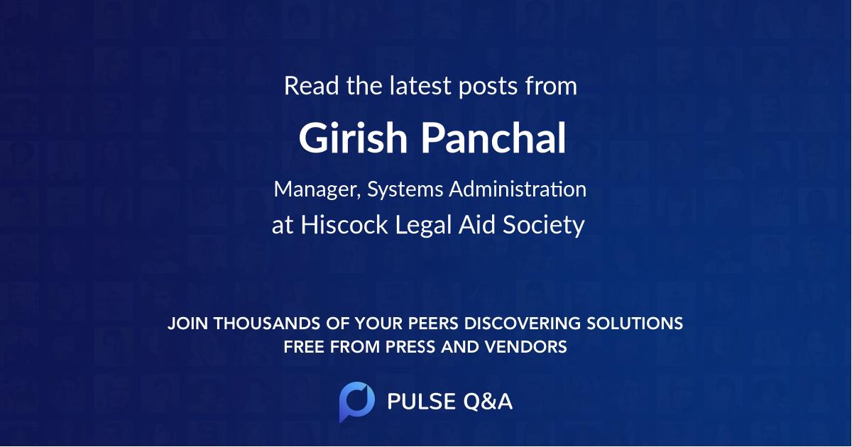 Girish Panchal