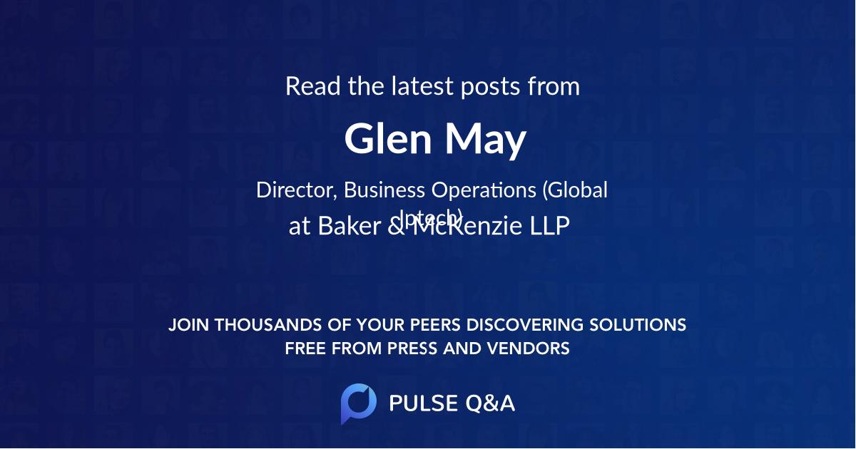 Glen May
