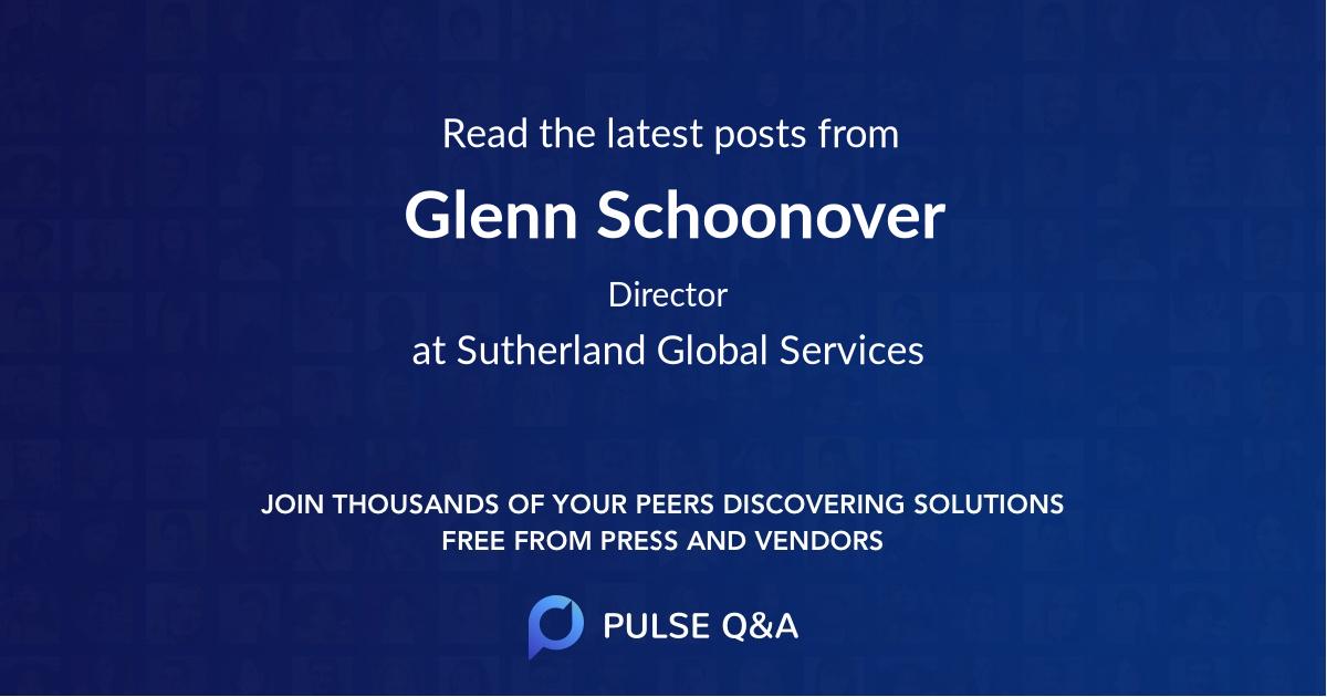 Glenn Schoonover