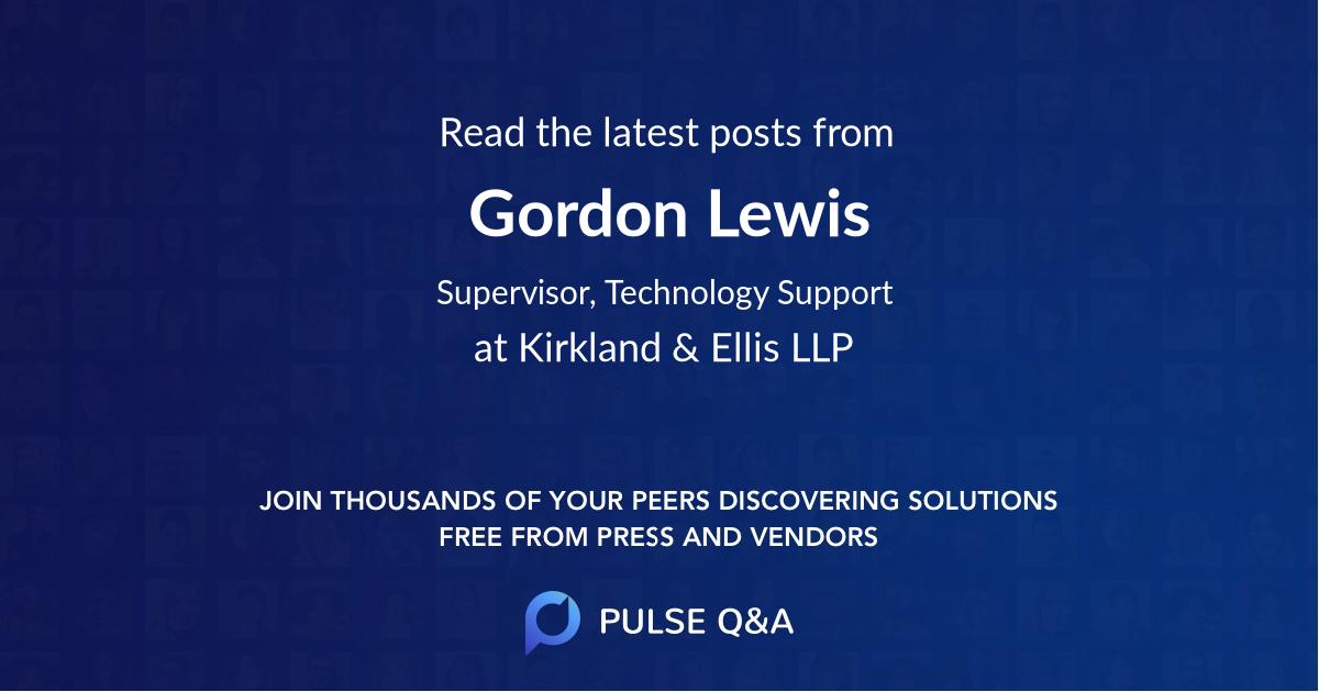 Gordon Lewis