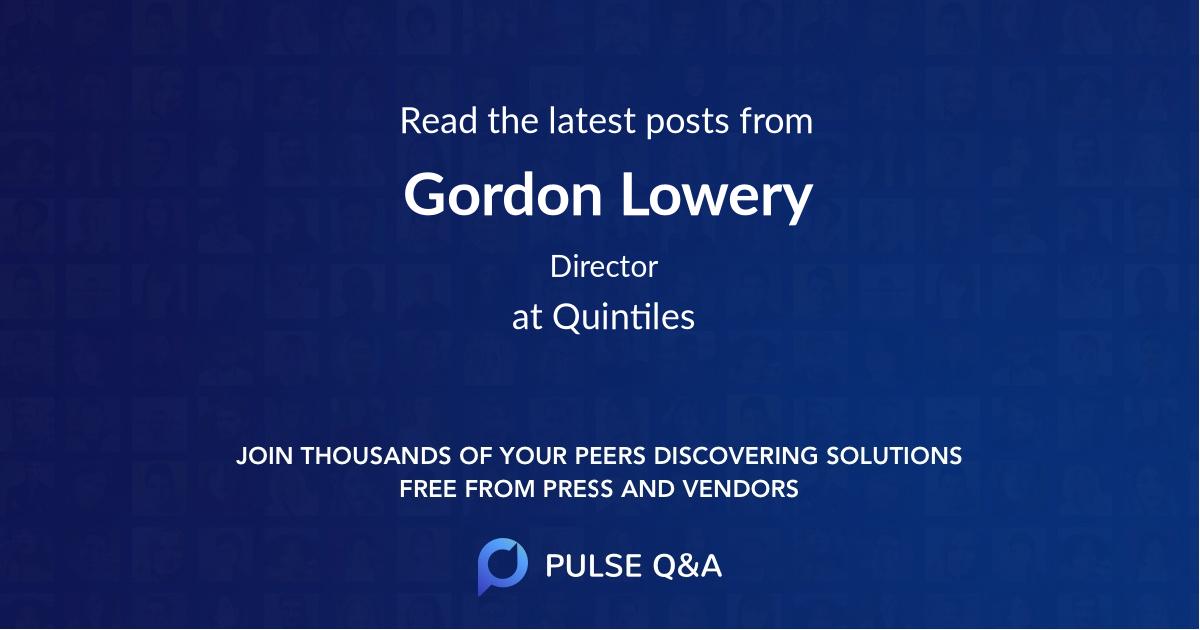 Gordon Lowery