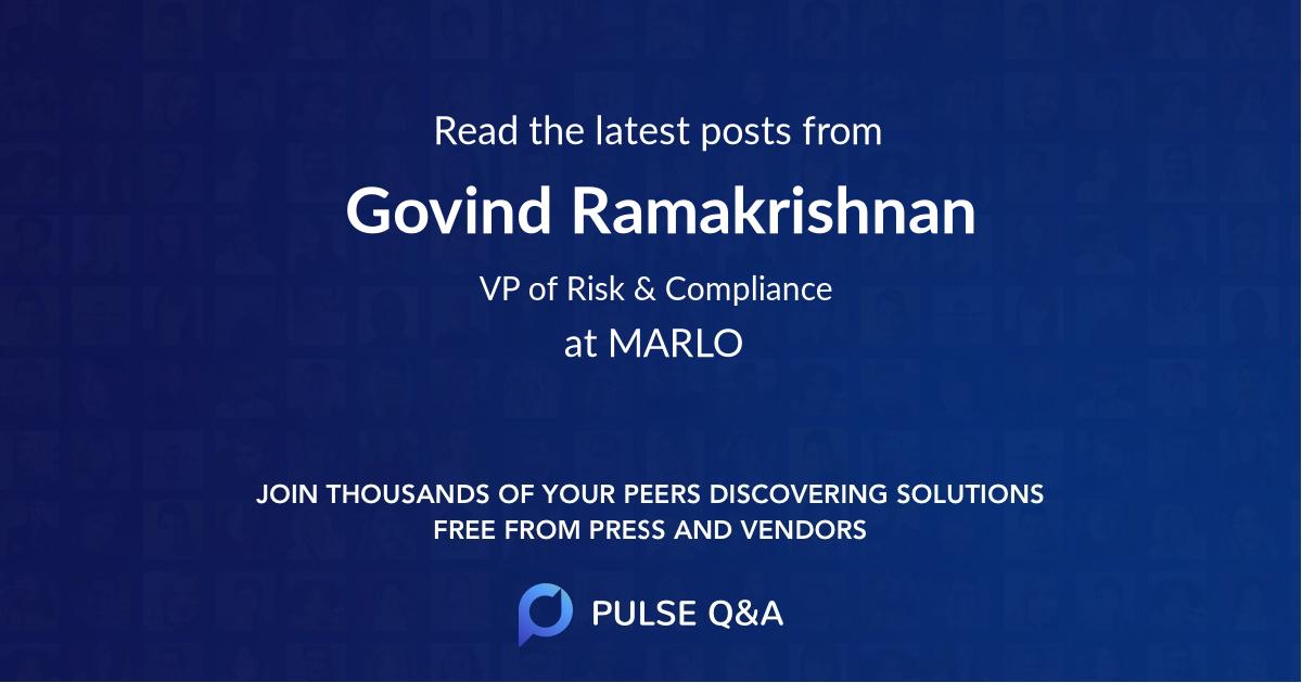 Govind Ramakrishnan