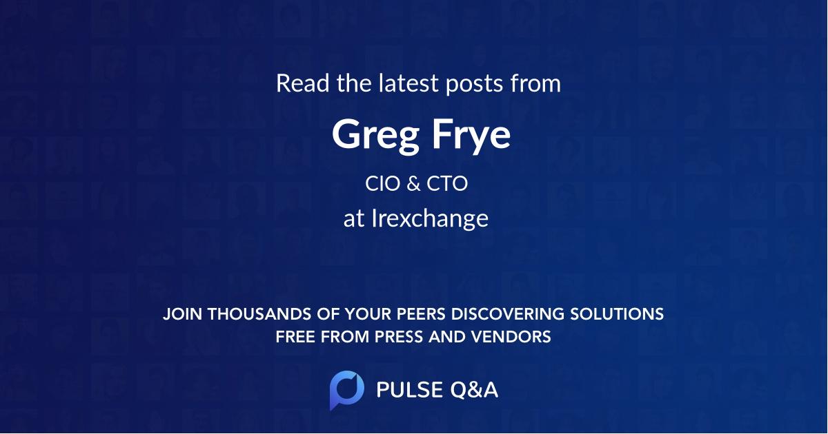 Greg Frye