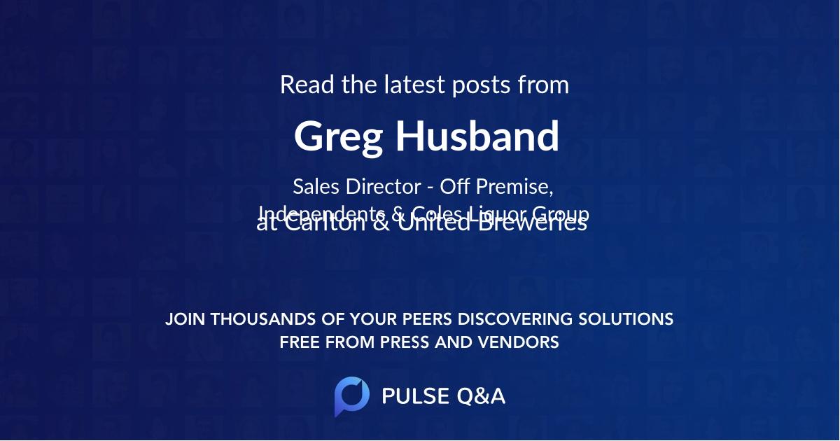 Greg Husband