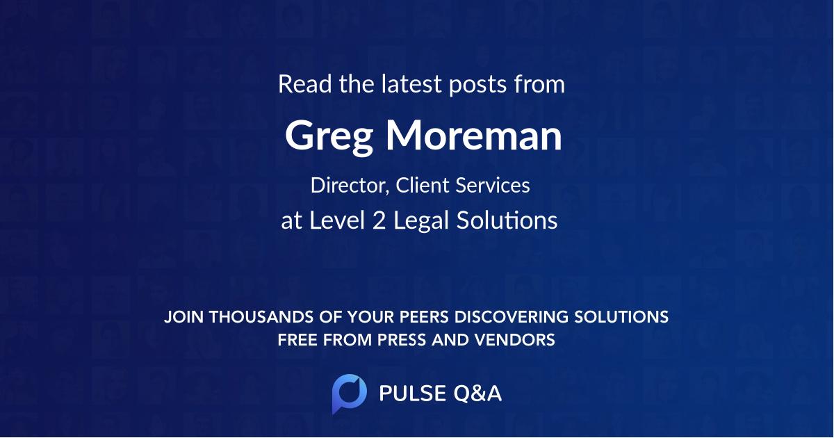 Greg Moreman
