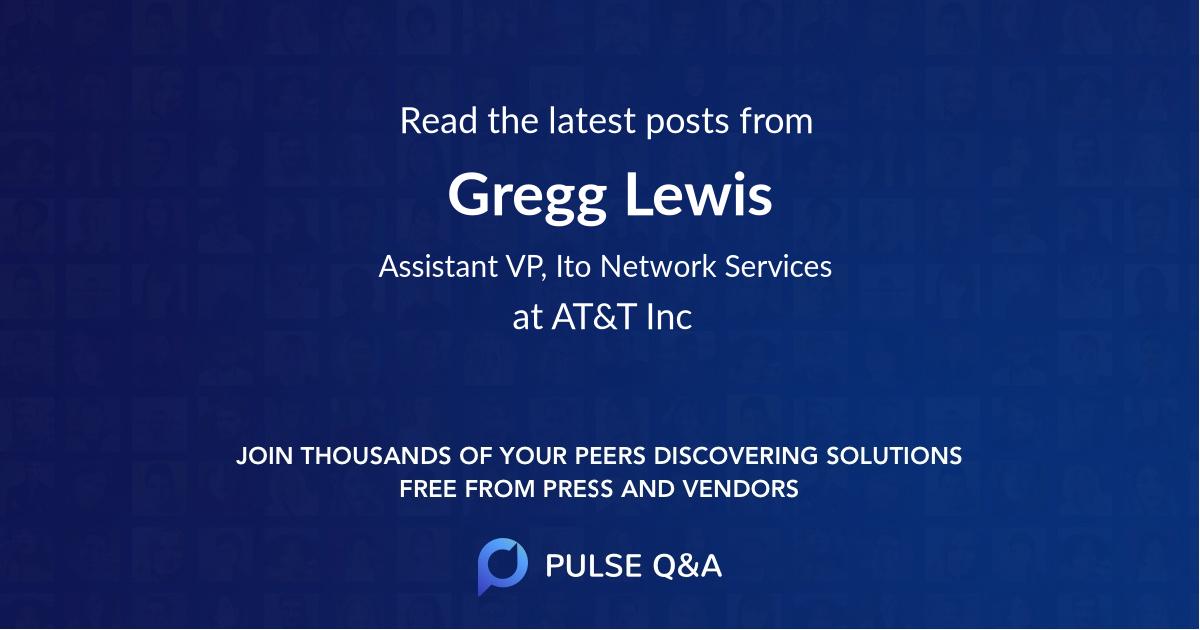 Gregg Lewis