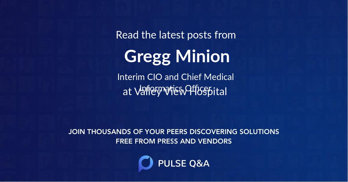 Gregg Minion
