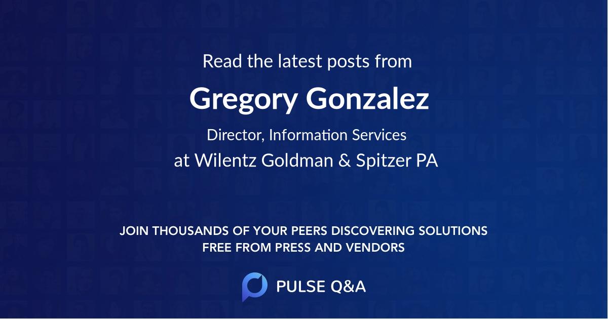 Gregory Gonzalez
