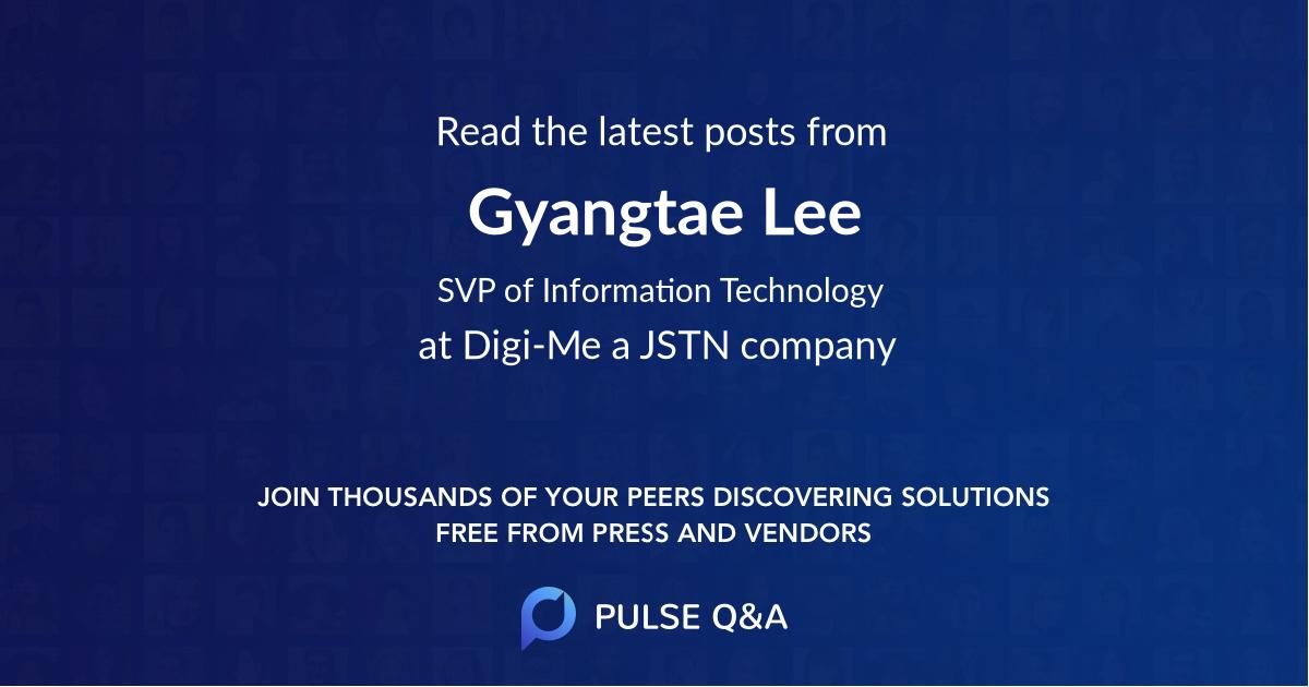 Gyangtae Lee
