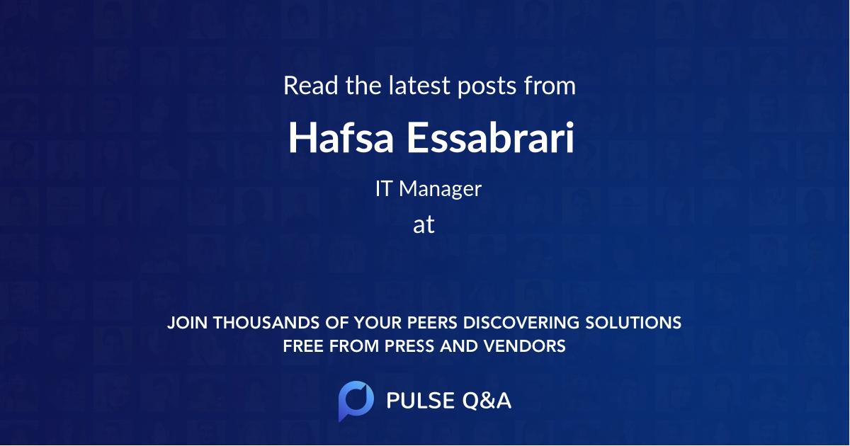 Hafsa Essabrari