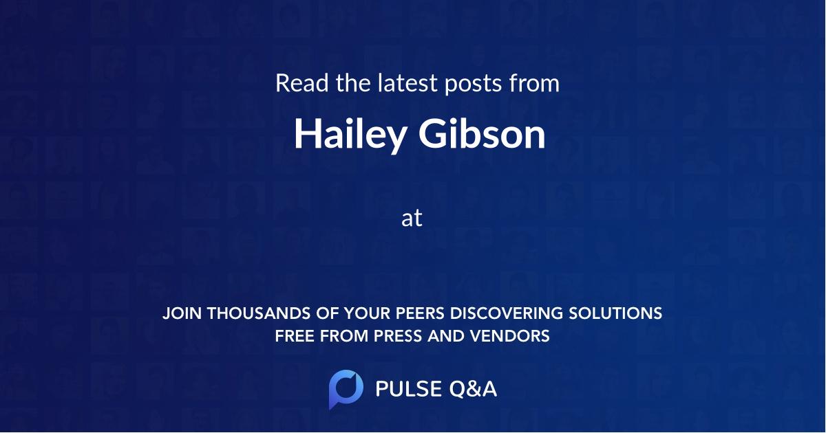 Hailey Gibson