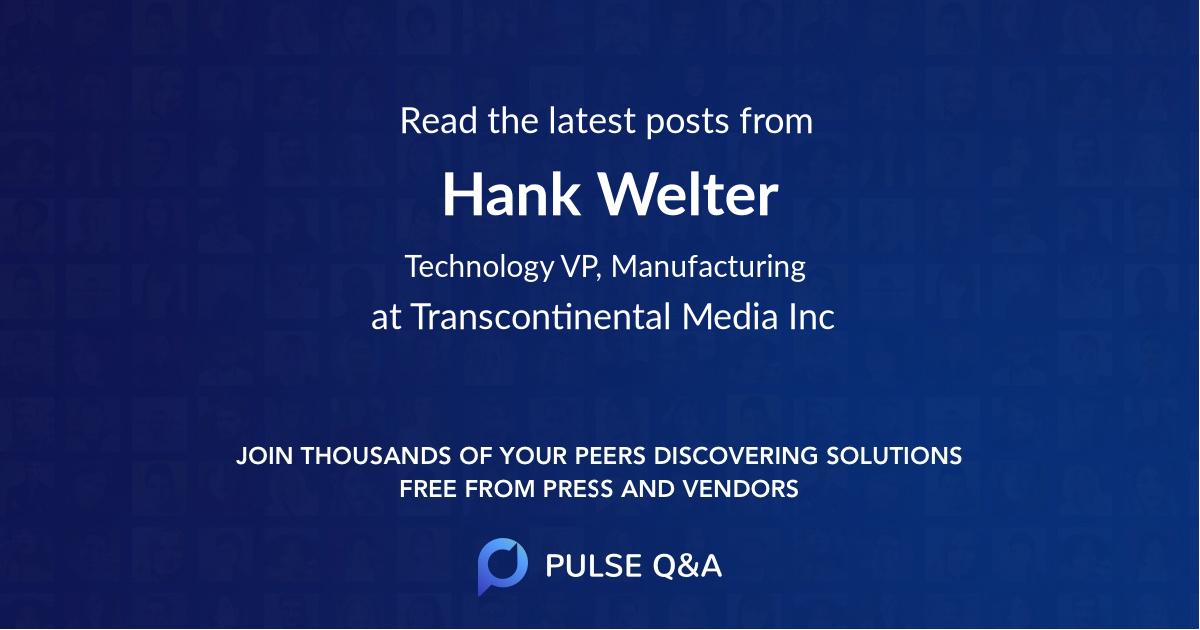Hank Welter