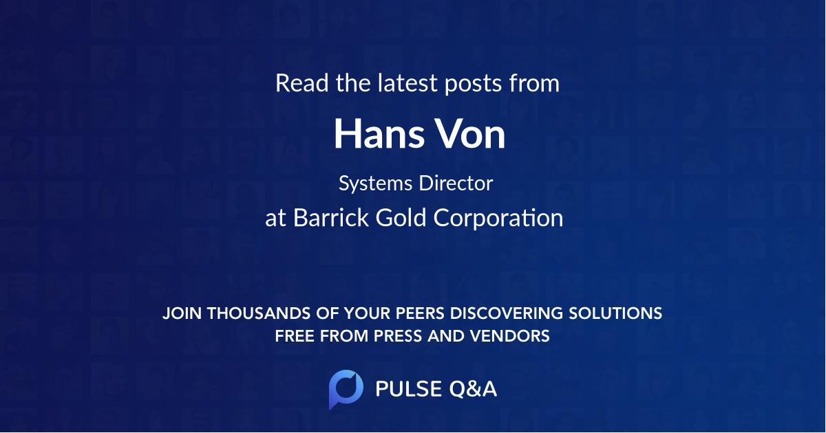 Hans Von