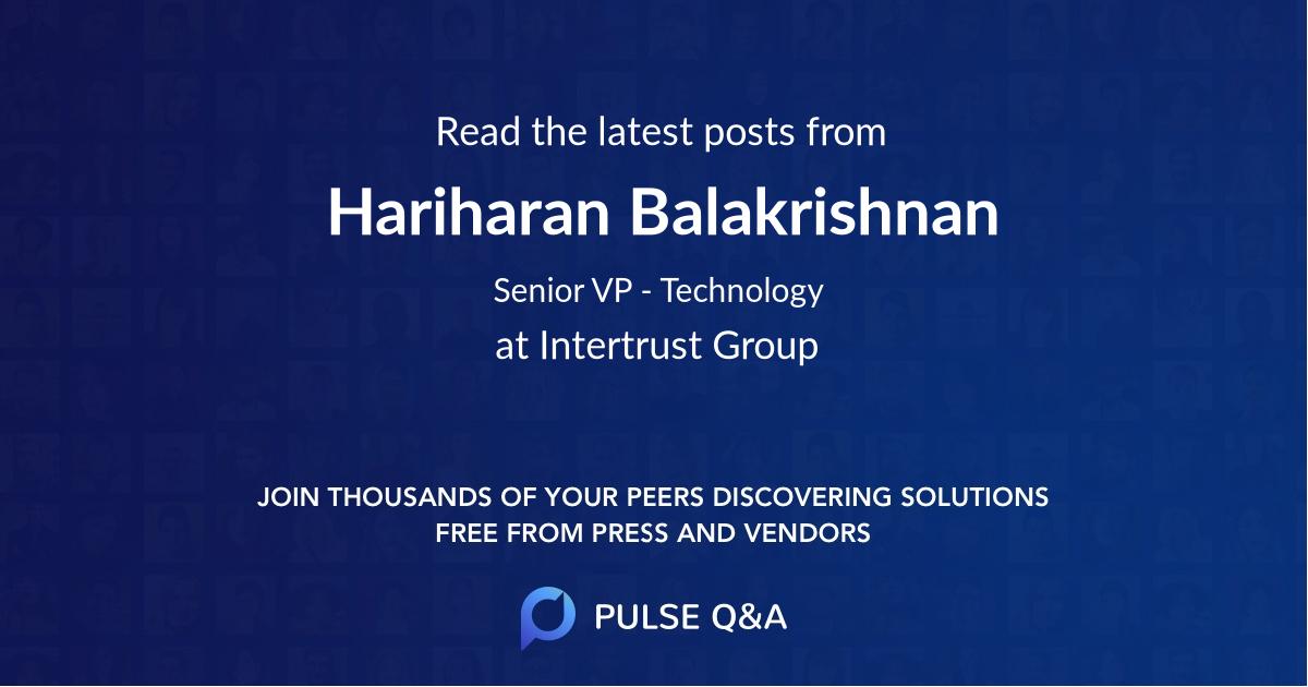 Hariharan Balakrishnan