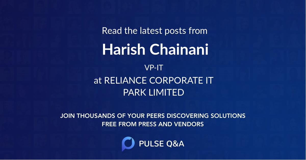 Harish Chainani