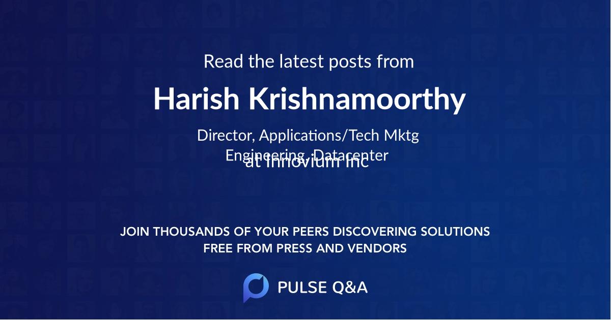 Harish Krishnamoorthy