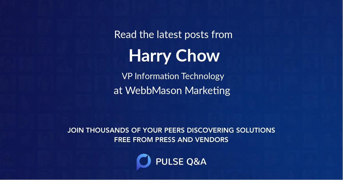 Harry Chow