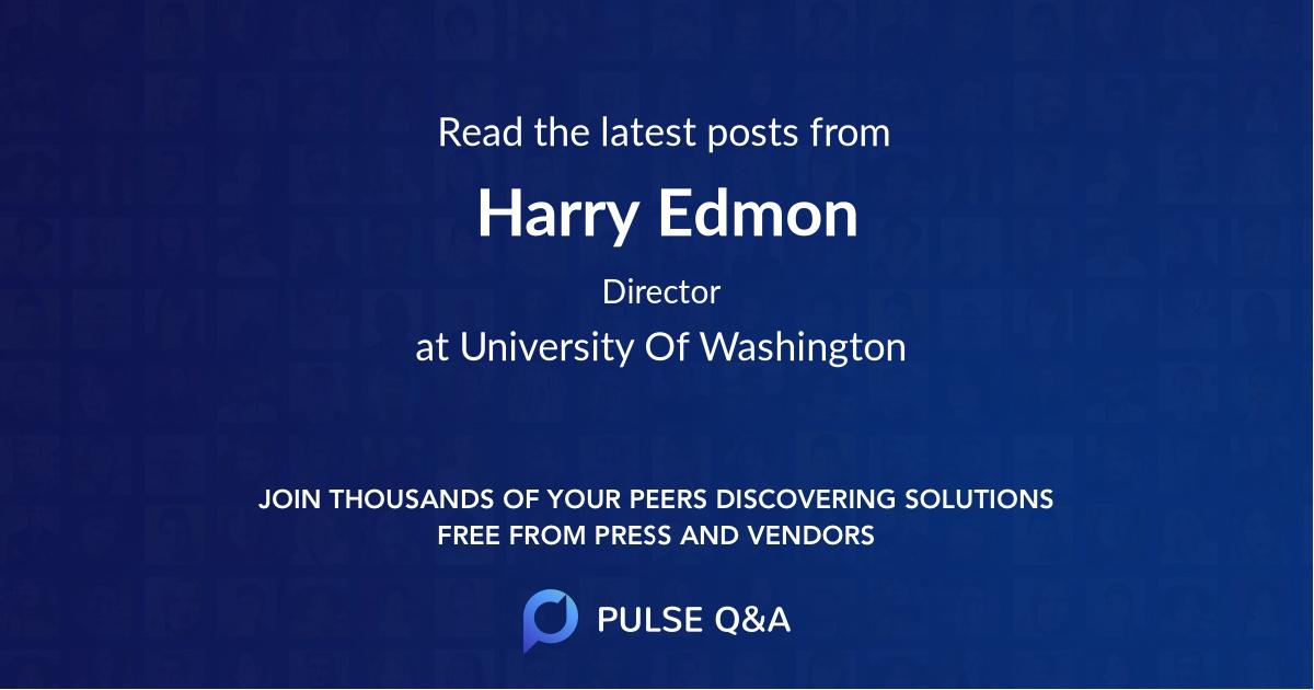 Harry Edmon
