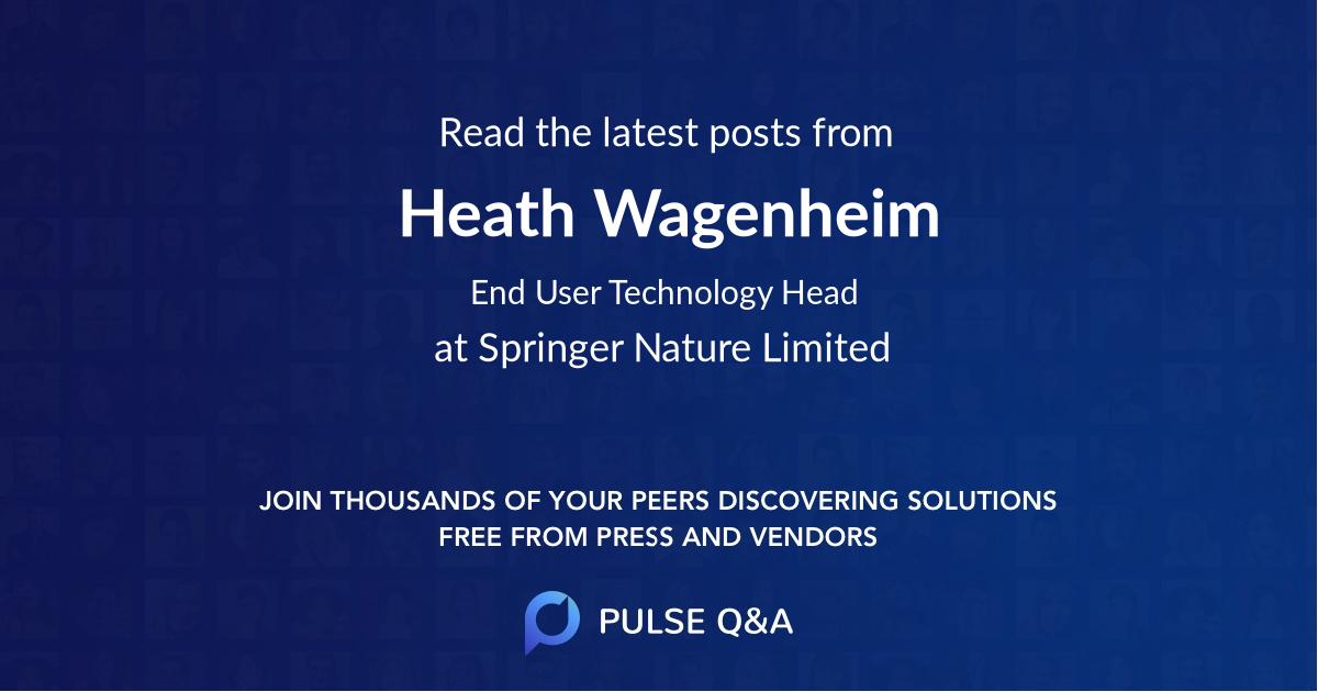 Heath Wagenheim