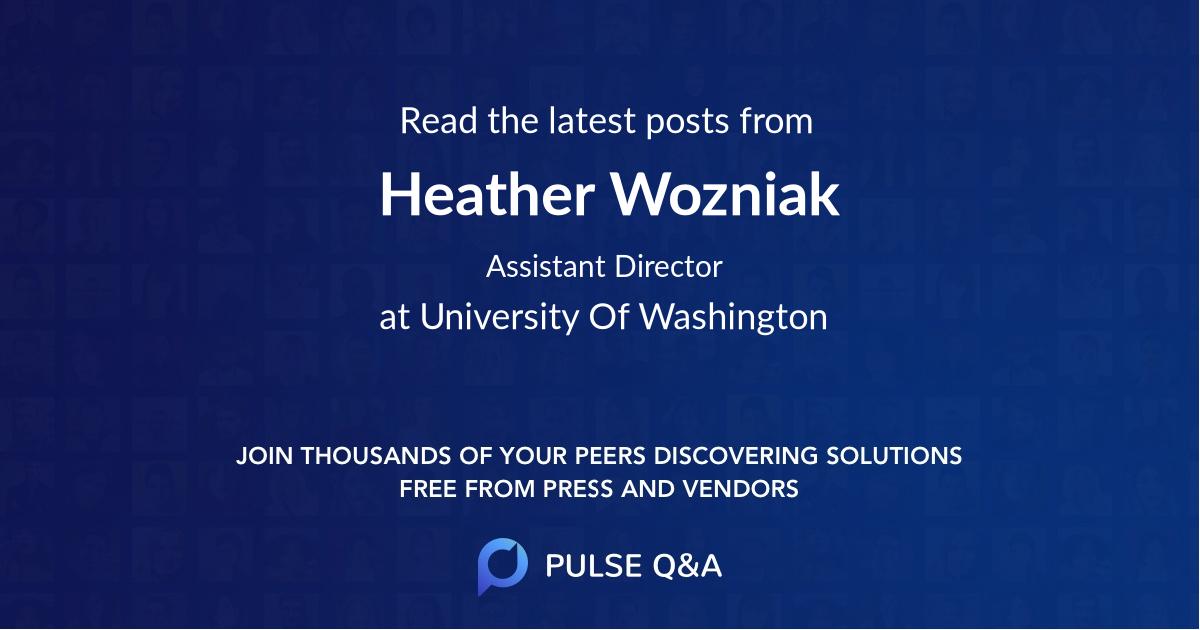 Heather Wozniak