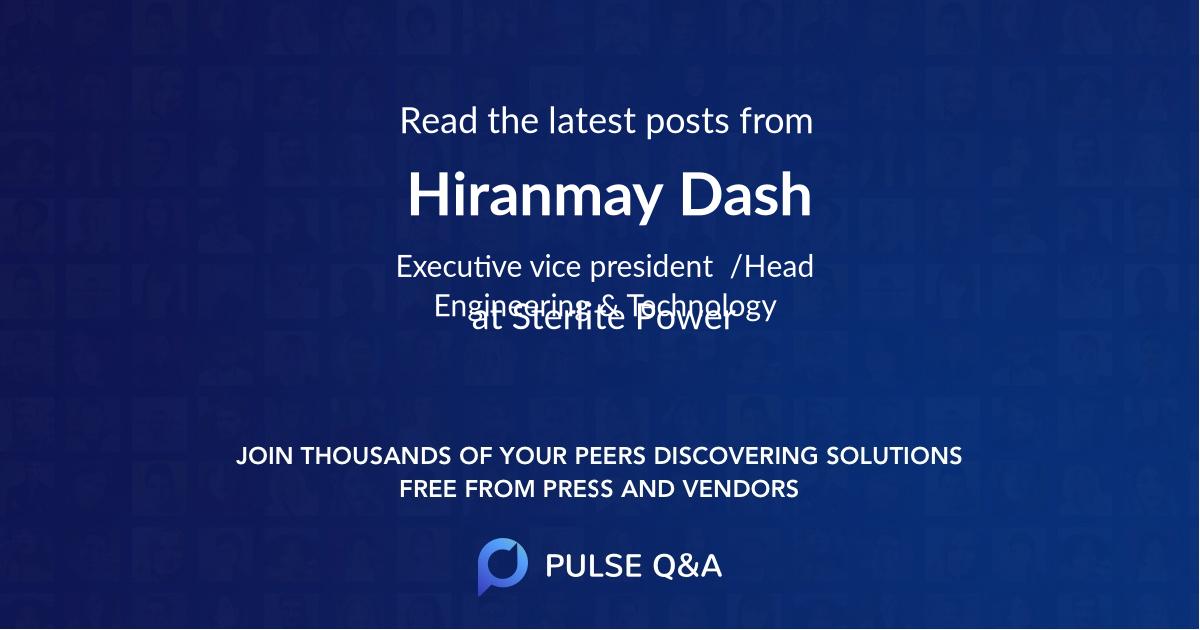 Hiranmay Dash