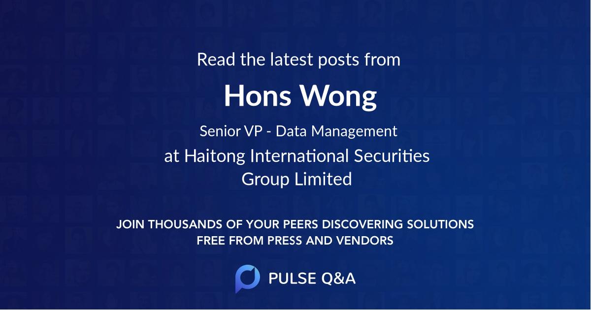 Hons Wong