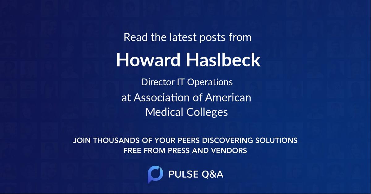 Howard Haslbeck