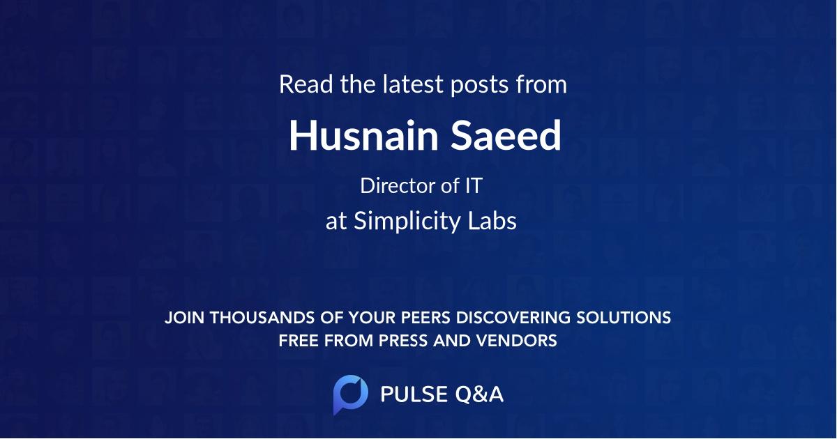 Husnain Saeed