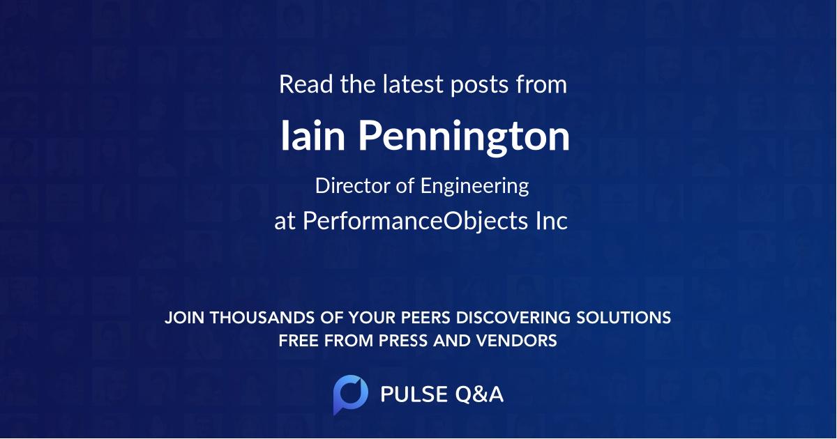 Iain Pennington