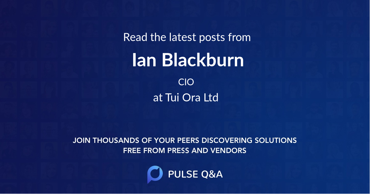 Ian Blackburn