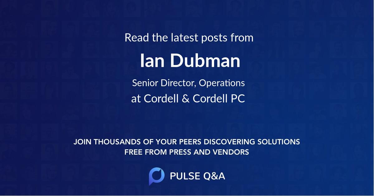 Ian Dubman