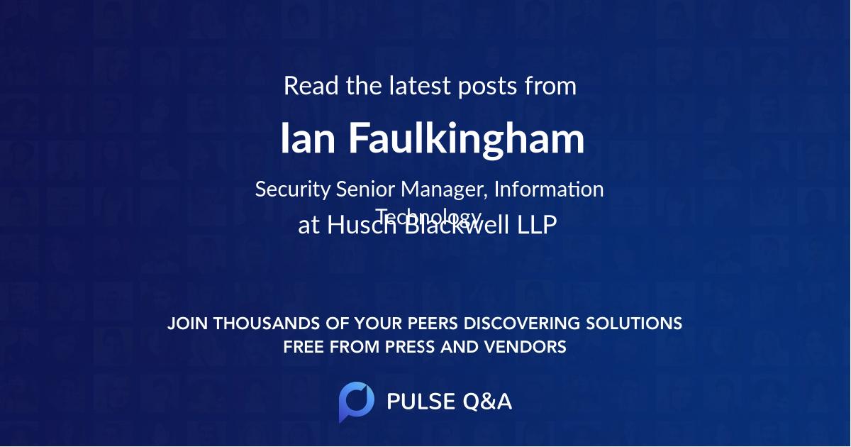 Ian Faulkingham