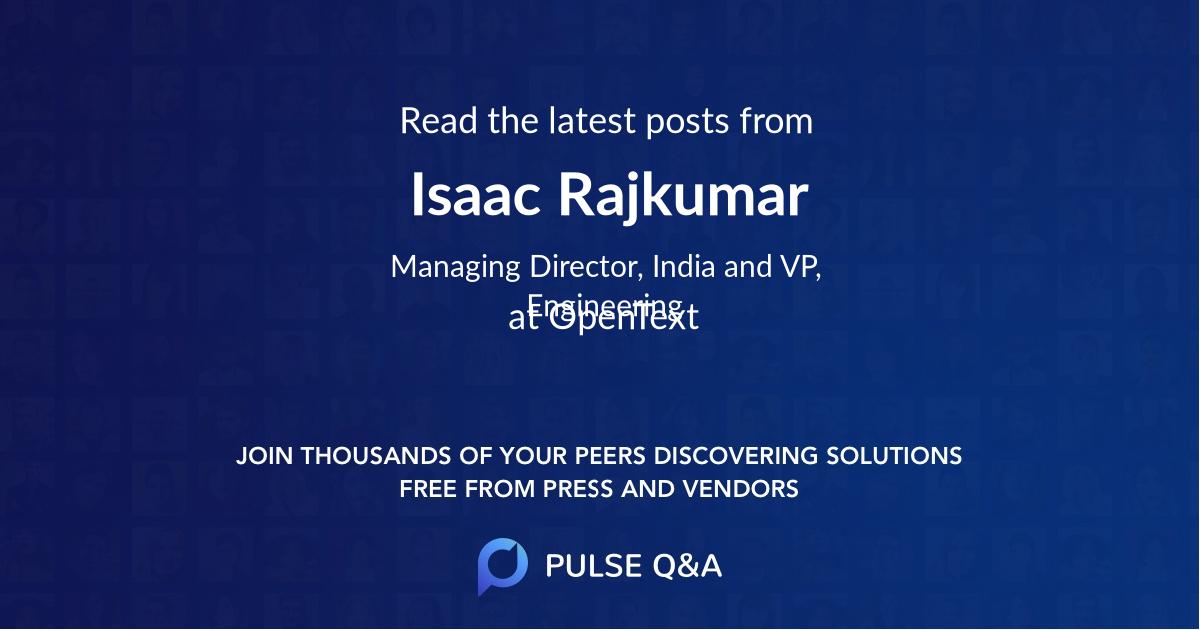 Isaac Rajkumar