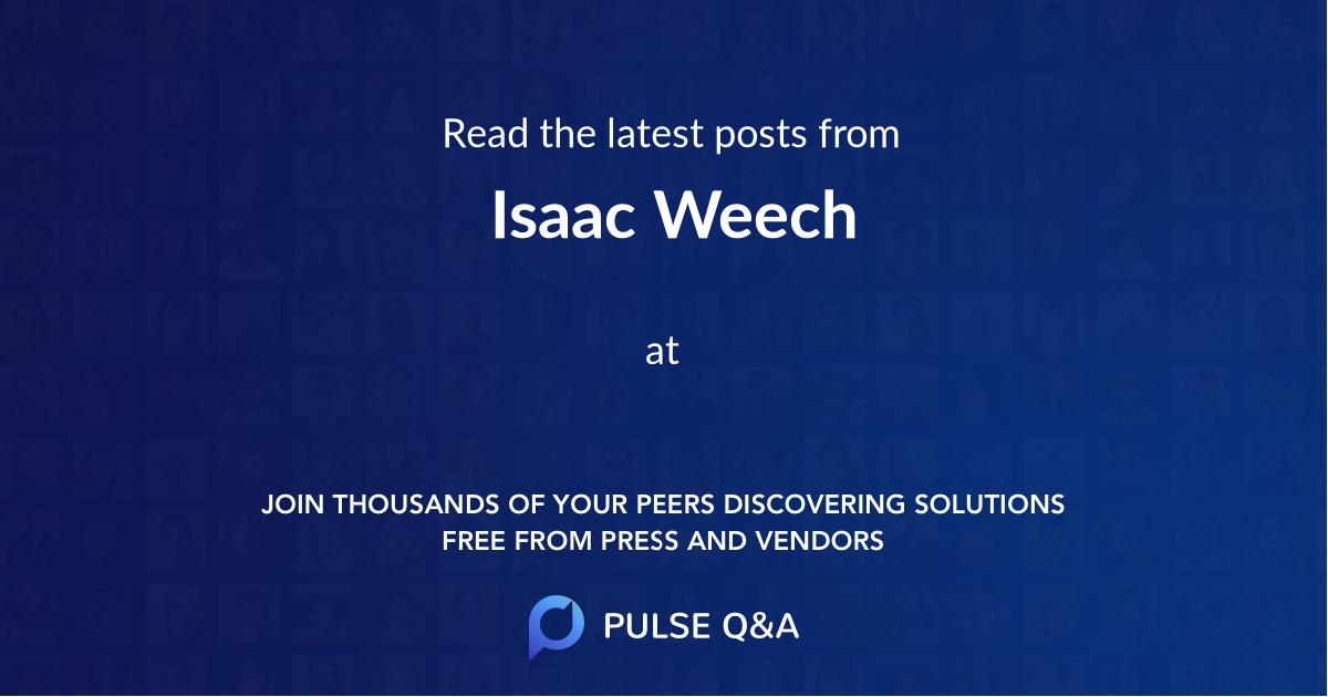 Isaac Weech