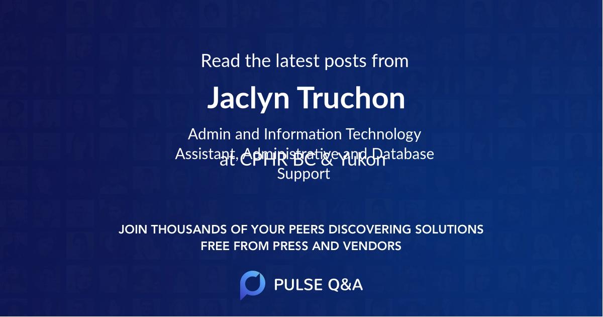 Jaclyn Truchon
