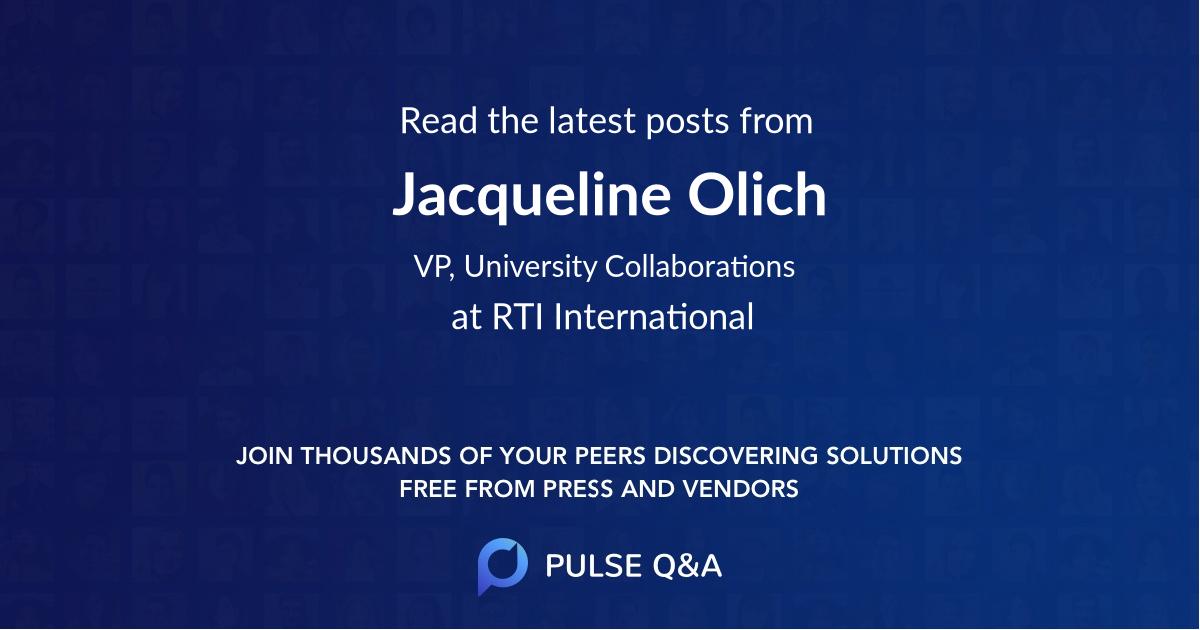 Jacqueline Olich