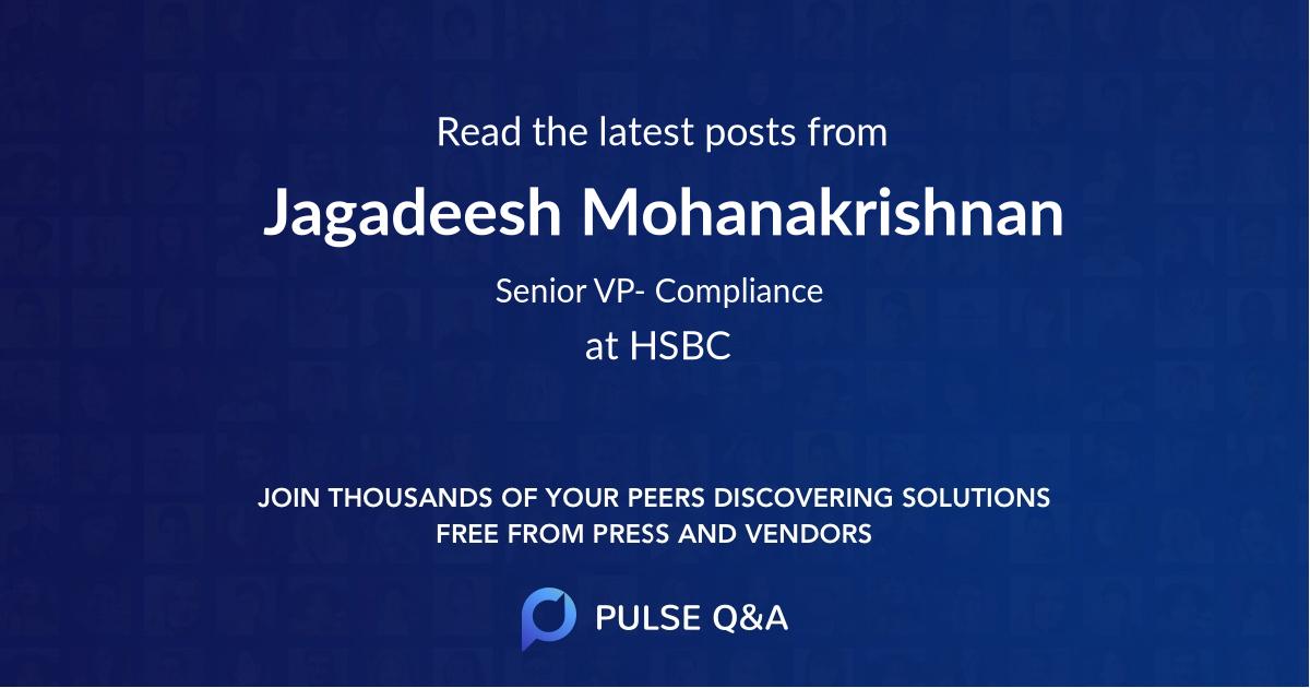 Jagadeesh Mohanakrishnan