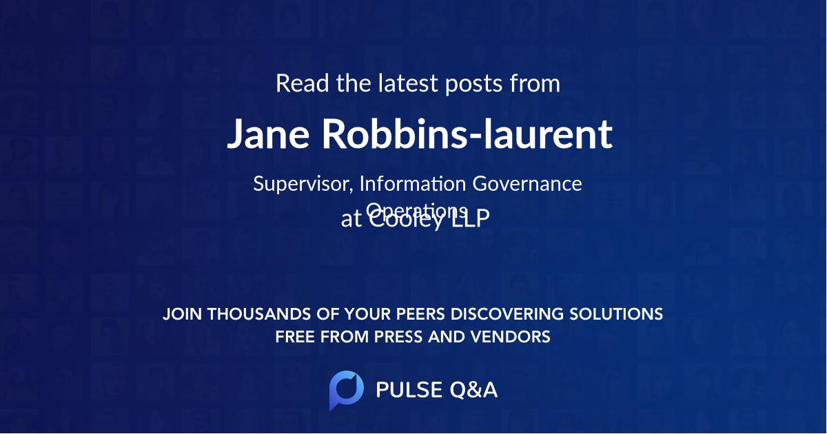 Jane Robbins-laurent