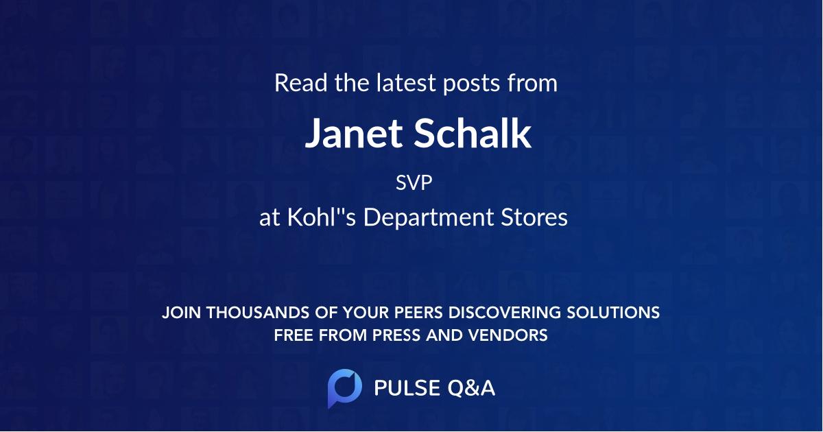 Janet Schalk