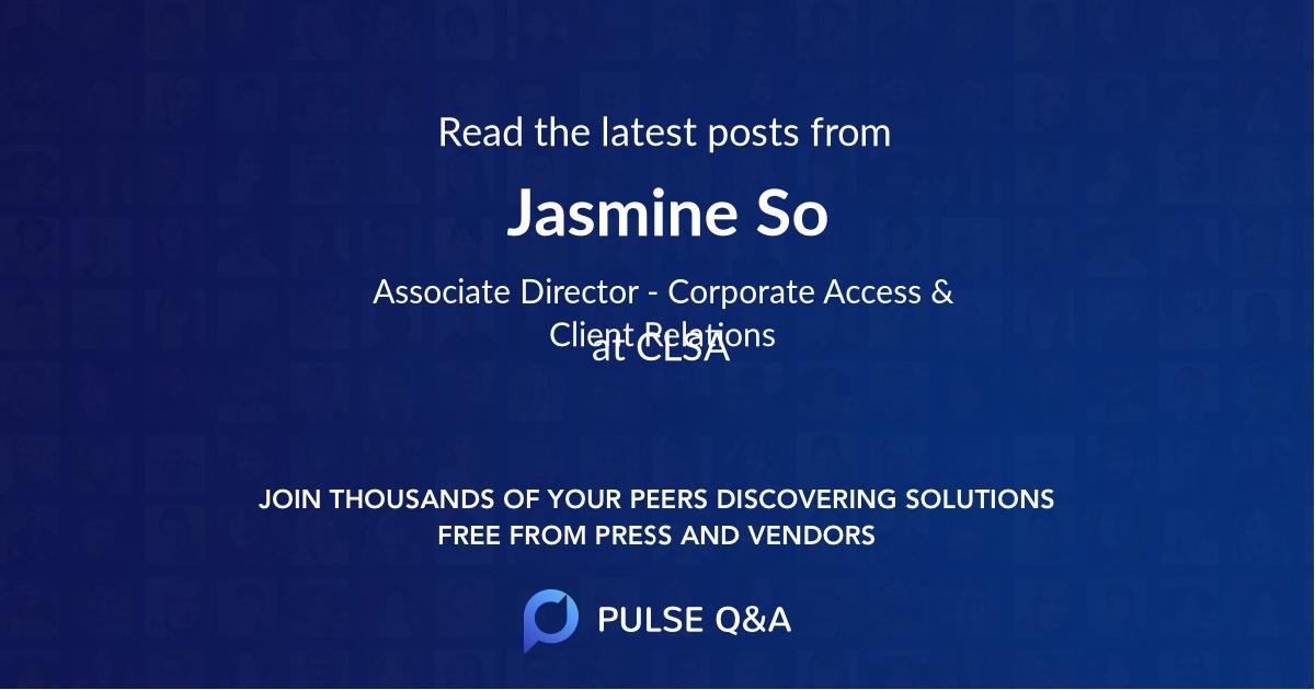 Jasmine So