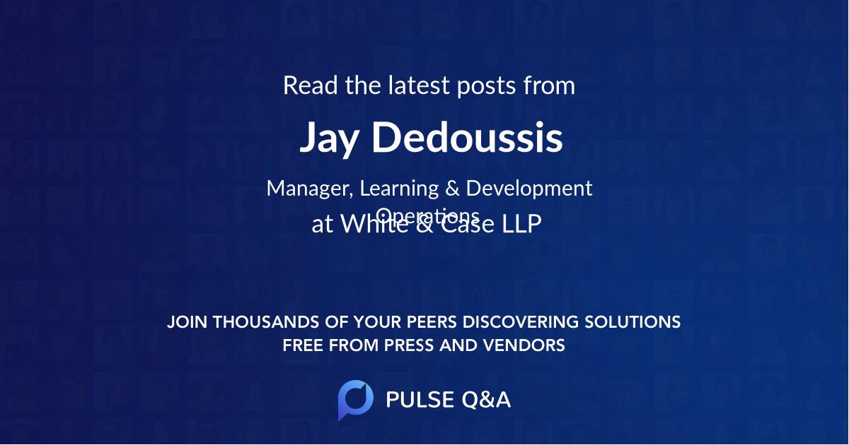 Jay Dedoussis