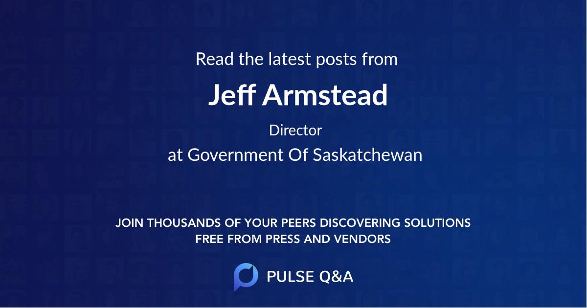 Jeff Armstead