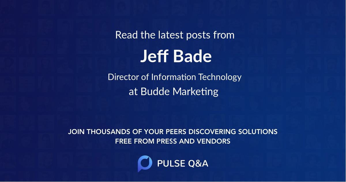 Jeff Bade