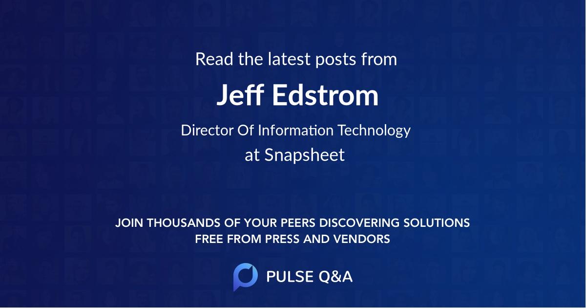 Jeff Edstrom