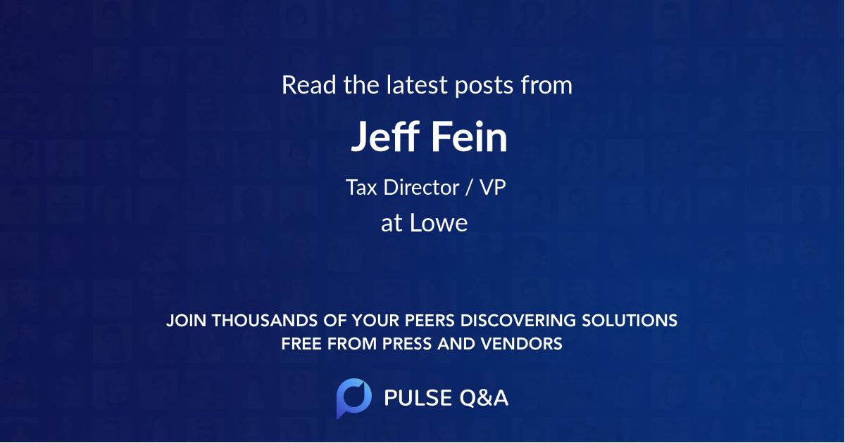 Jeff Fein