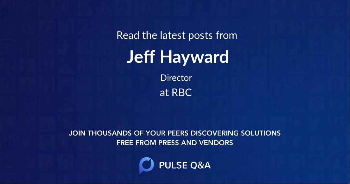 Jeff Hayward