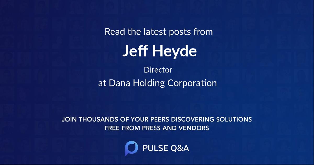 Jeff Heyde